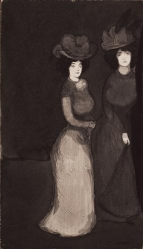 Les deux jeunes femmes (Las dos mujeres jóvenes)