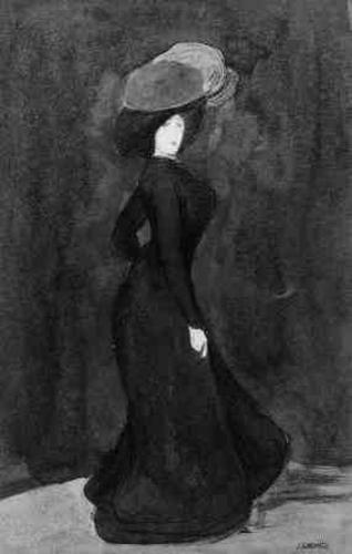 Jeune femme debout (Mujer joven de pie)