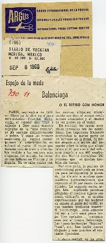 Artículo de prensa en el Diario de Yucatán