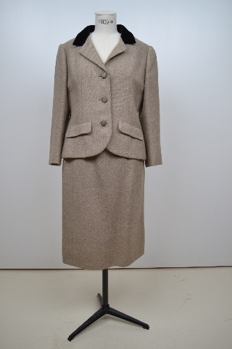Traje de chaqueta en lana jaspeada