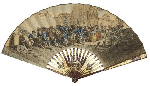 Abanico inglés con escenas del 2 de mayo de 1808