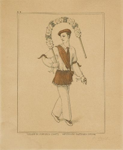 Bailarín de Guipúzcoa (Oñate) - Gipuzkoako`ko dantzaria (Oñate)