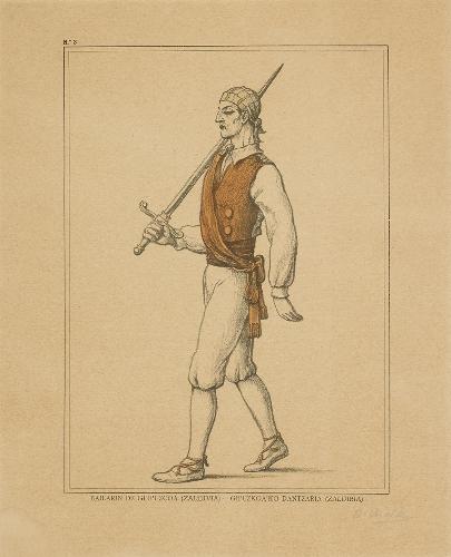 Bailarín de Guipúzcoa (Zaldivia) - Gipuzkoa`ko dantzaria (Zaldibia)