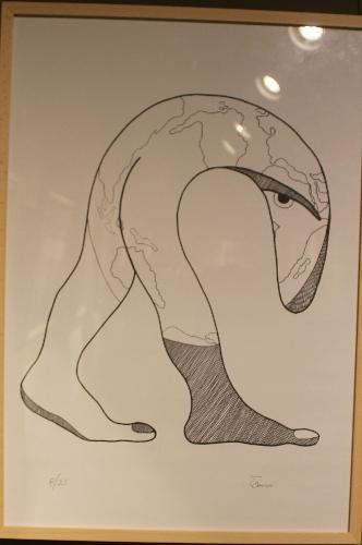 The tongue and foot