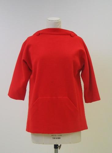 Blusa- túnica en punto naranja