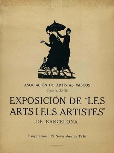 """Asociación de artistas vascos / Granvia 23-25 / Exposición de """"Les / Arts I els artistes"""" / de Barcelona..."""