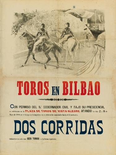 Toros en Bilbao /... permiso del Sr. Gobernador Civil ...