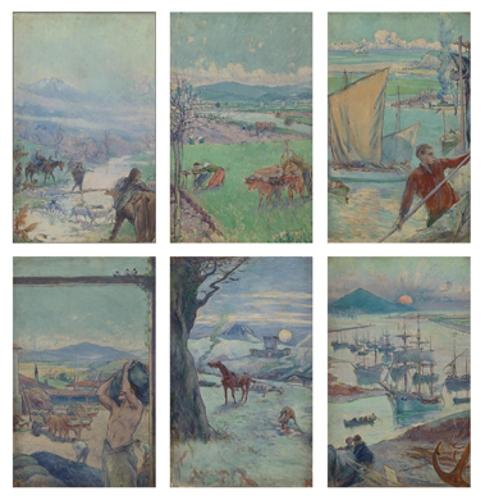 Proyecto de vidriera (seis paneles)