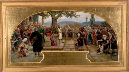 La pacificación de los bandos oñacino y gamboíno ante el corregidor Gonzalo Moro en 1394
