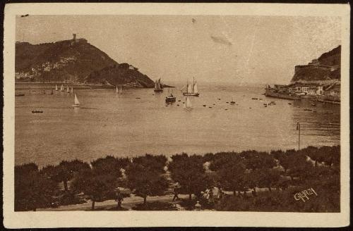 San Sebastián. Vista de la bahía.