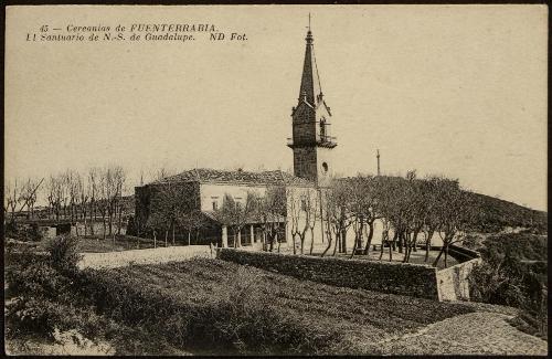 Cercanías de Fuenterrabía. El santuario de N.S de Guadalupe