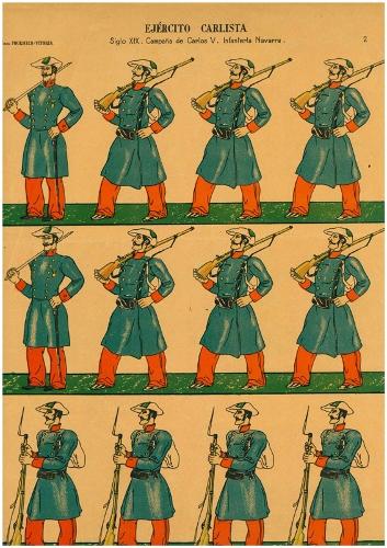 """Ejército Carlista /Siglo XIX. Campaña de Carlos V. Infantería Navarra"""