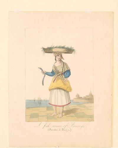 """A fisch woman of Biscaya / (Pescadera de Biscaya)""."