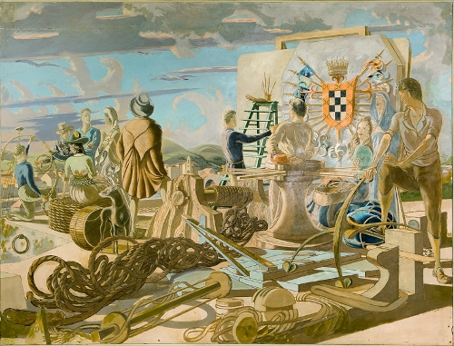 Mural para el petrolero Bilbao