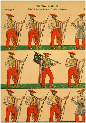 """Ejército Carlista /Siglo XIX. Campaña de Carlos V. Guías de Navarra"""