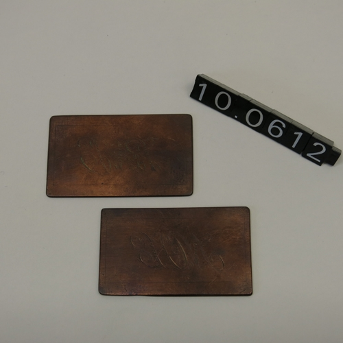 Planchas para estampación de tarjetas de visita