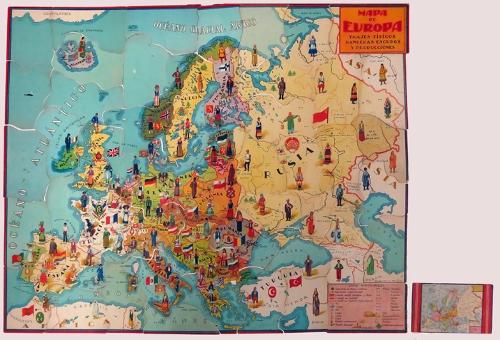 """""""Mapa de Europa. Banderas, Escudos y Producciones"""""""