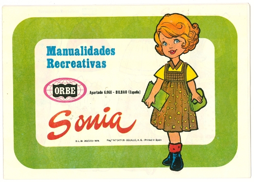 "Muñecas recortables ""Sonia"""