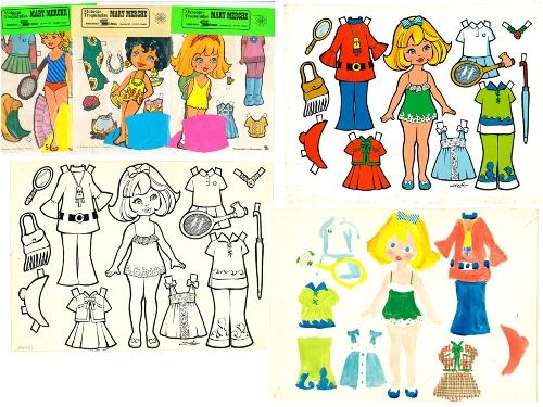 Material para la edición de muñecas recortables