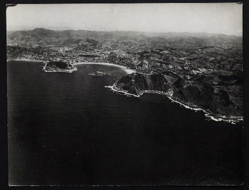 Vista aérea de San Sebastián desde el mar