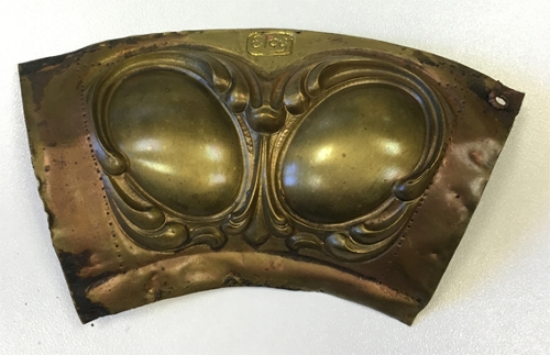 Fragmento de orla decorativa para una bandeja
