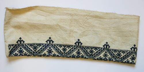 Fragmento bordado de funda de edredón