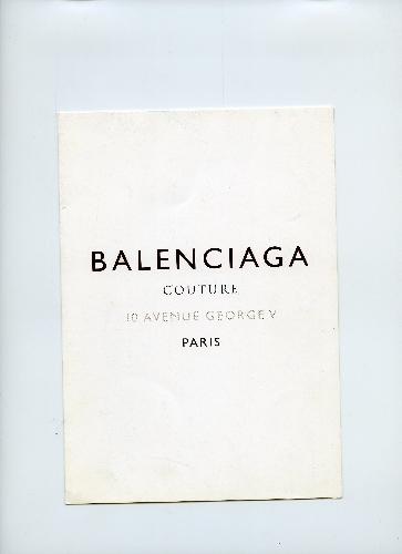 Programa de la exposición que se hizo sobre Balenciaga en Munich