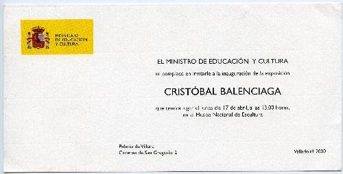 Invitación del Ministro de Educación y Cultura.