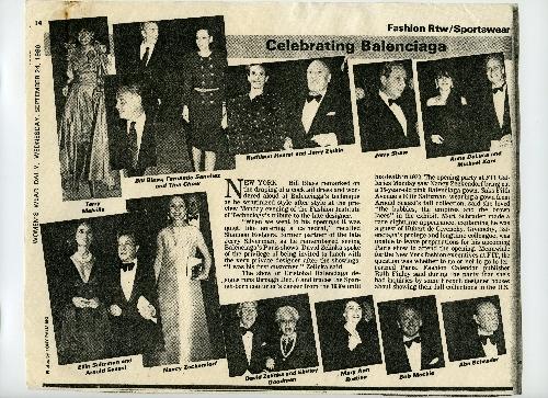 Articulo de prensa que recoje el evento que tuvo lugar en Fashion Institute of Technology de New York.
