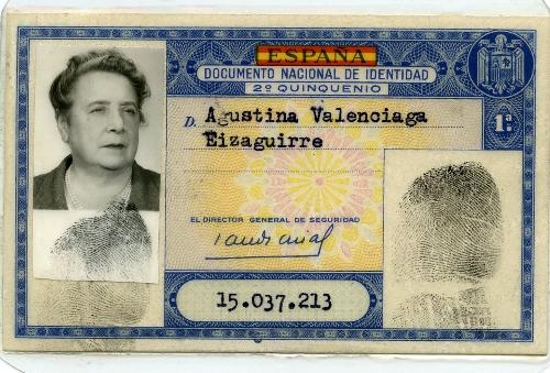 DNI de Agustina Balenciaga Eizaguirre