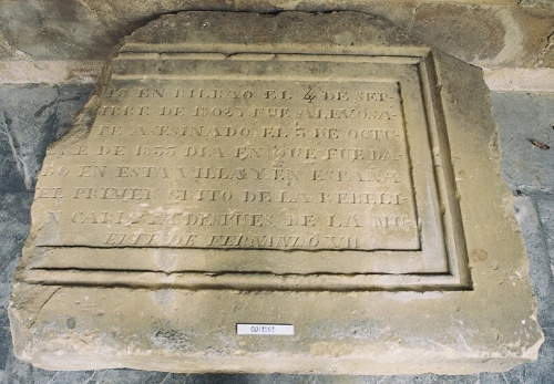 Lápida funeraria de Candido de Arechaga