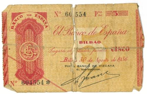 Talón de 5 pesetas