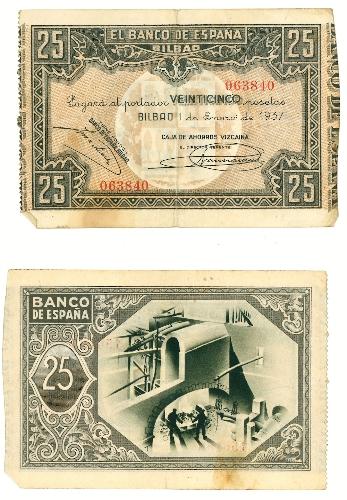 Billete de 25 pesetas