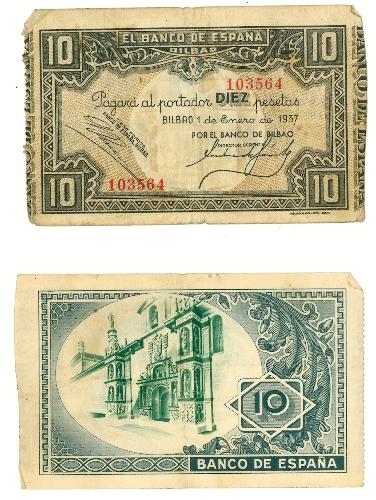 Billete de 10 pesetas