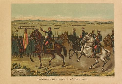 """""""Presentación de Don Alfonso XII al Ejército del Norte"""""""