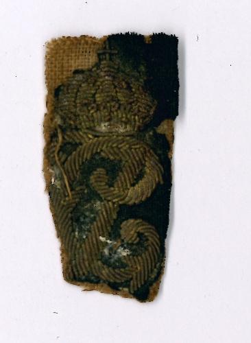 Distintivo de cuello de uniforme carlista