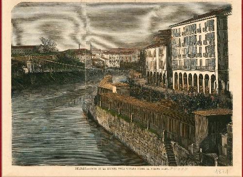 Bilbao, vista de la villa desde el puente viejo