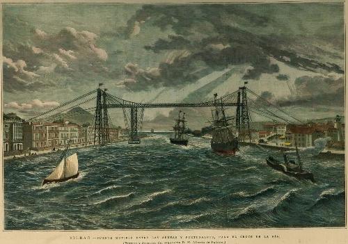 Puente movible ente las Arenas y Portugalete
