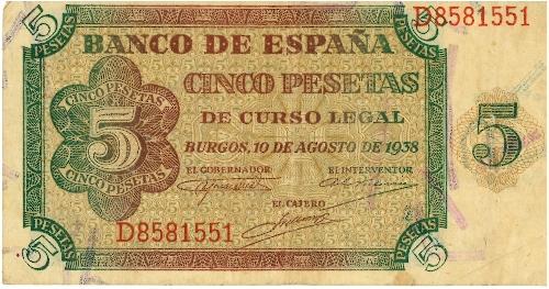 Billete de 5 pesetas