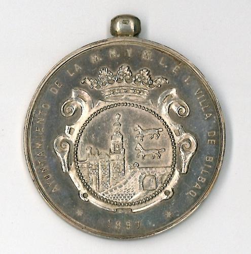 Medalla de los festejos de Bilbao de 1897