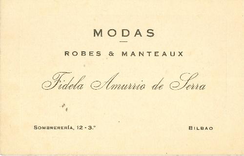 Modas & Manteaux Fidela Amurrio