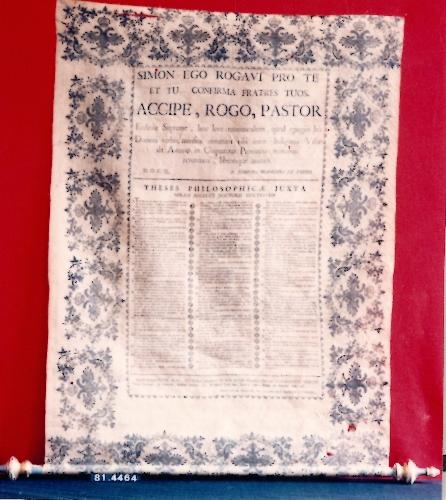 Tesis de grado de José Francisco de Veroyz