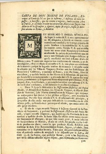Documentación sobre el origen y apellido de San Martín de la Ascensión
