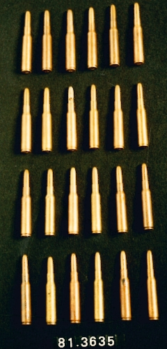 24 balas de fusil Mauser