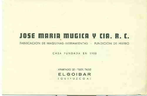 JOSE MARIA MUGICA Y CIA. R.C.