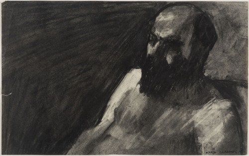 Retrato de Luis de Pablo. Torso desnudo