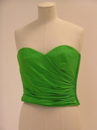 Cuerpo-corpiño en punto verde