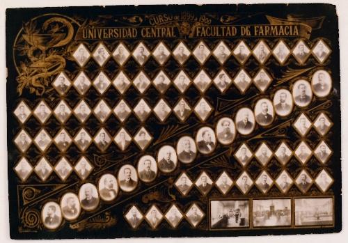 """""""Universidad Central. Facultad de Farmacia. Curso 1899-1900"""""""
