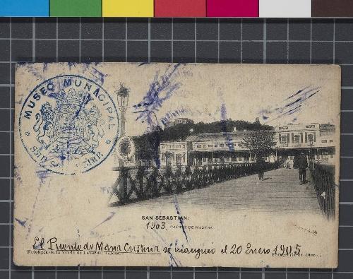 San Sebastián: 1903. Puente de madera