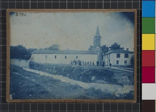 Iglesia parroquial de San Sebastián del Antiguo en el año 1888. San Sebastián